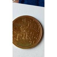 """Китай сувенирная монета """"Год льва"""" позолота. 38 мм. распродажа"""