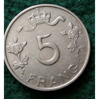 5 франков Люксембург 1949