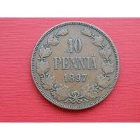 10 пенни 1897 года. Медь.