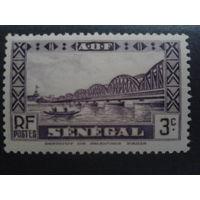 Сенегал 1940 колония Франции мост в Дакаре