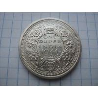 Британская Индия 1 рупия 1944, серебро;