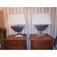 Аукцион с рубля Лампа интерьерная с алюминиевым основанием. Пара одним лотом.