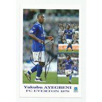 Yakubu Ayegbeni(Everton, Англия). Живой автограф на фотографии.
