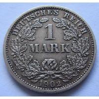 Германия 1 марка 1902 отметка монетного двора D - Мюнхен