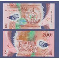 Банкнота Вануату 200 вату (2014) UNC ПРЕСС полимерная