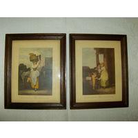 2  Красивейшие гравюры.  23 х 28 см. N 2