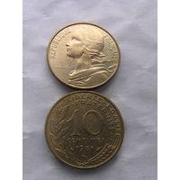 Франция 10 сантимов 1981г.  распродажа