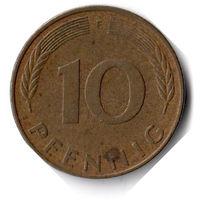 Германия. 10 пфеннигов. 1978 F