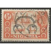 Нигерия. Королева Елизавета II. Старая валюта Манилы. 1953г. Mi#71.