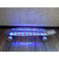 Скейтборд RollerSurfer Ltd , с подсветкой , новый в упаковке