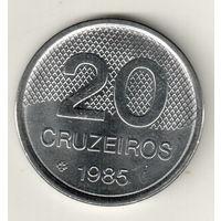 Бразилия 20 крузейро 1985