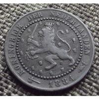 Нидерланды. 1 цент 1884
