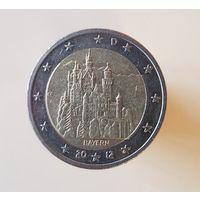 2 евро Германия 2012 F Федеральные земли Бавария