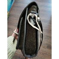 Наплечная сумка из буйволиной кожи. ручная работа.