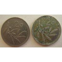 Мальта 2 цента 1995, 1998 гг. Цена за 1 шт. (gl)