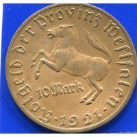 Германия , Вестфалия 10 марок 1921 , VF