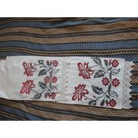 Рушник полотенце 1 домотканый лен вышивка орнамент кружева