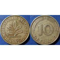 ФРГ, 10 пфеннигов 1982 G. монетный двор Карлсруэ