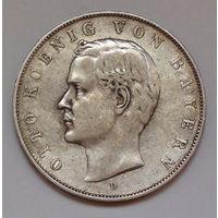 Германия - Германская империя. Бавария 3 марки. 1911. D