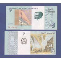 Банкнота Ангола 5 кванза 2012 UNC ПРЕСС