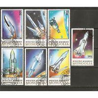 Монголия 1989. Космос. Полная серия