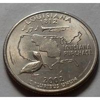 25 центов, квотер США, штат Луизиана, P D