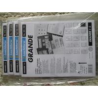 Листы для банкнот, GRANDE 1c;2c;3c;4c, упаковка (5шт.), прозрачные, новые.