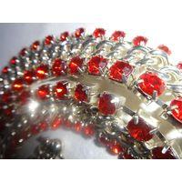 Пояс-колье-браслет рубиновый (стразы)