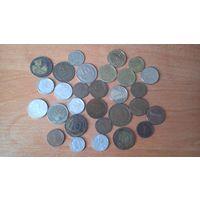Лот иностранных монет.