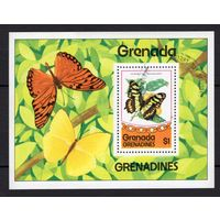 B7 - 1 шт. - Гренада - CTO - Бабочки - Фауна - зубчатый