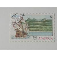 Куба 1990. Америка. Корабль