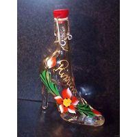 Туфелька бутылочка ручная роспись статуэтка стекло Италия сувенир