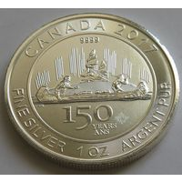 """Канада 2017 серебро (1 oz) """"150 лет открытию Канады"""""""
