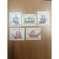 1964 Корабли (Польша) 5 марок