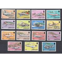 Авиация. Самолеты. Гибралтар. 1982. 15 марок (полная серия). Michel N 432-446 (40,0 е)
