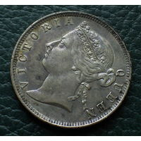 Стрейтс Сетлментс 20 центов 1896 (СЕРЕБРО) AUNS