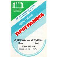 Динамо Минск - Нефтчи Баку 25.07.1987г.