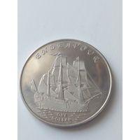 Острова Гилберта 1 доллар 2014 года Эндэвор