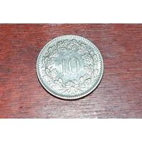 Швейцария 10 раппенов 2007