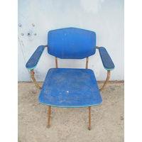 Стул (кресло)  50-х годов металлический каркас