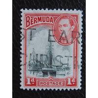 Бермудские острова 1938 г. Георг VI. Гавань Гамильтон.