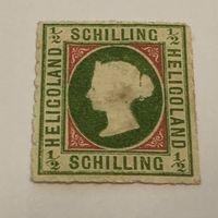Британское владение немецким островом Гельголанд 1867 Виктория Стандарт #1 Первая редкая марка