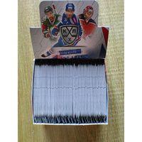 50 запечатанных пакетов карточек 11 сезона КХЛ одним лотом.