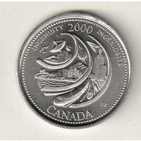 Канада 25 цент 2000 Изобретательность