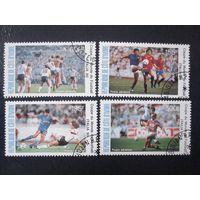 ЧМ по футболу в Италии 1990 (Кот д'Ивуар) 4 марки ПОЛНАЯ СЕРИЯ