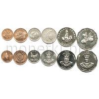 Тонга 6 монет 1996-2002 годов. FAO (AU)