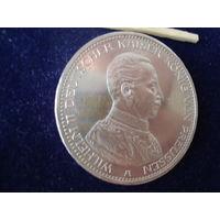Монета 5 марок, 1913 г., Вильгельм II, Германия, 900 проба.