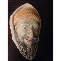 Гипсовые головы на стену еврея и араба