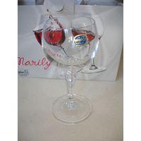 Бокалы для вина Хрусталь 6 шт Чехия Новые