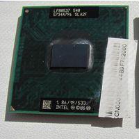 Процессор   INTEL  LF80537  540   5734A796  SL A2F  1.86/1M/533